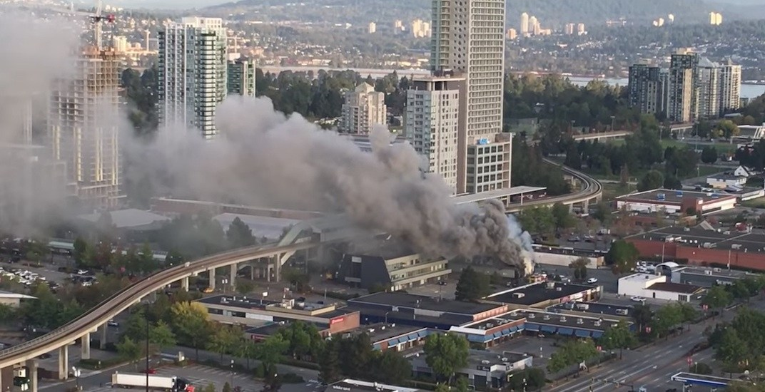 UPDATED: Surrey Central Station reopened after nearby fire extinguished