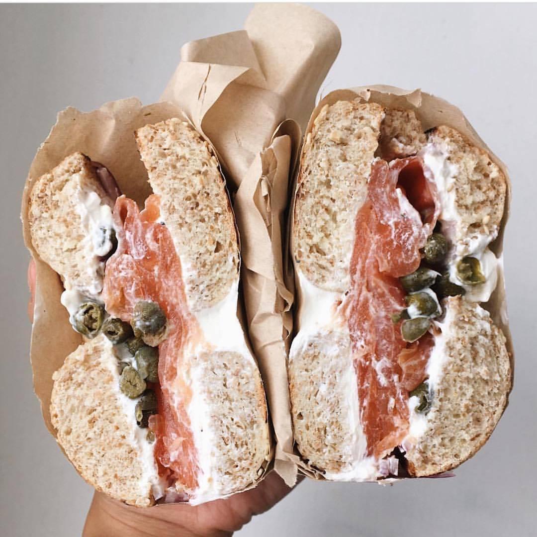 Schmaltz Appetizing bagel breakfast sandwich