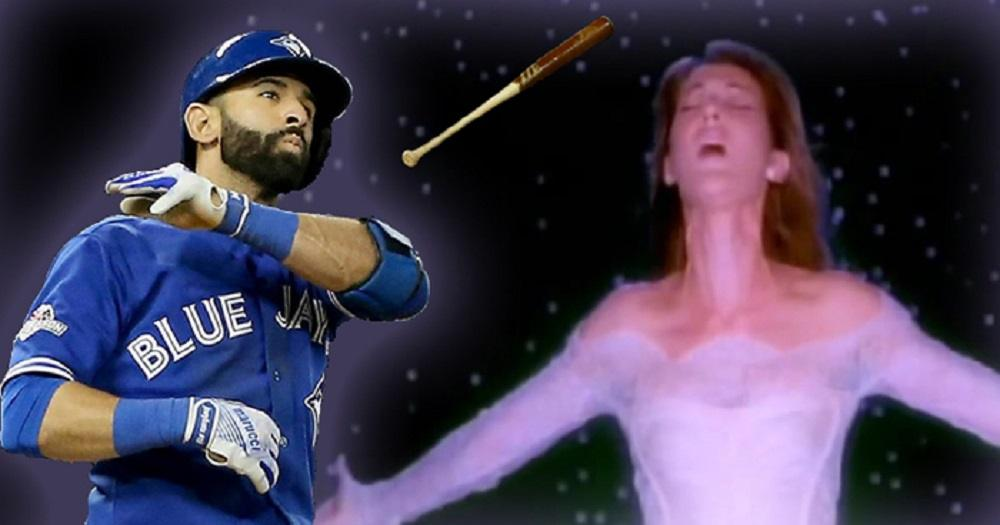 This Celine Dion-Bautista bat flip mashup is so damn beautiful (VIDEO)
