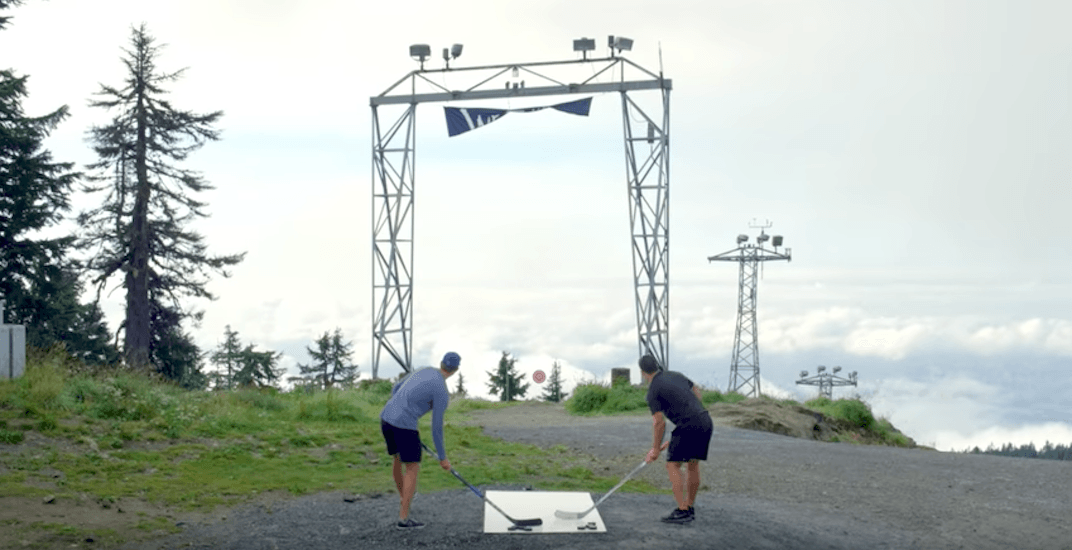 Horvat, Sutter shoot pucks off Grouse Mountain in Canucks season-launch video