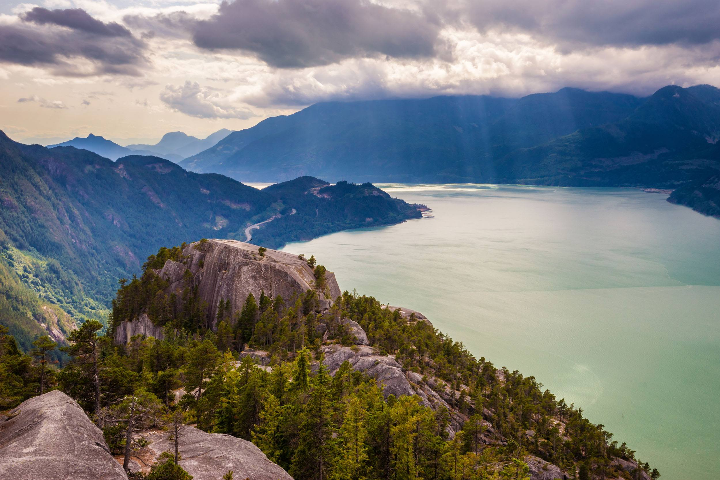 View over the Howe Sound from the Stawamus Chief in Squamish (Rowan Sims Photography/Shutterstock)