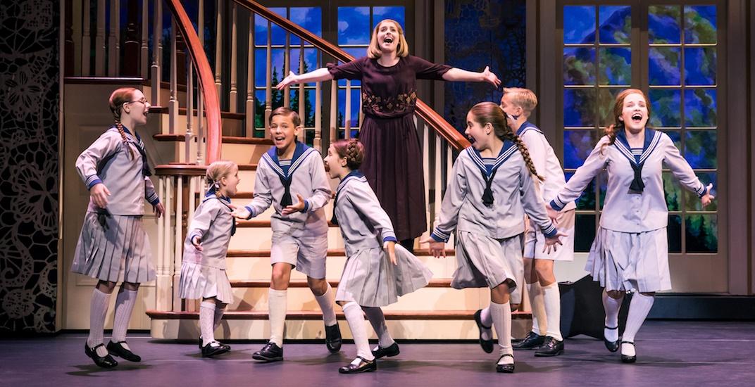 Jill christine wiley as maria rainer and the von trapp children. photo by matthew murphy 21