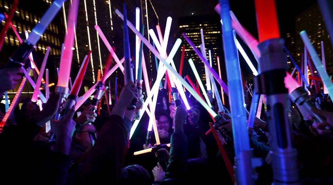 There's going to be a massive Glow Sword Battle in Toronto next month