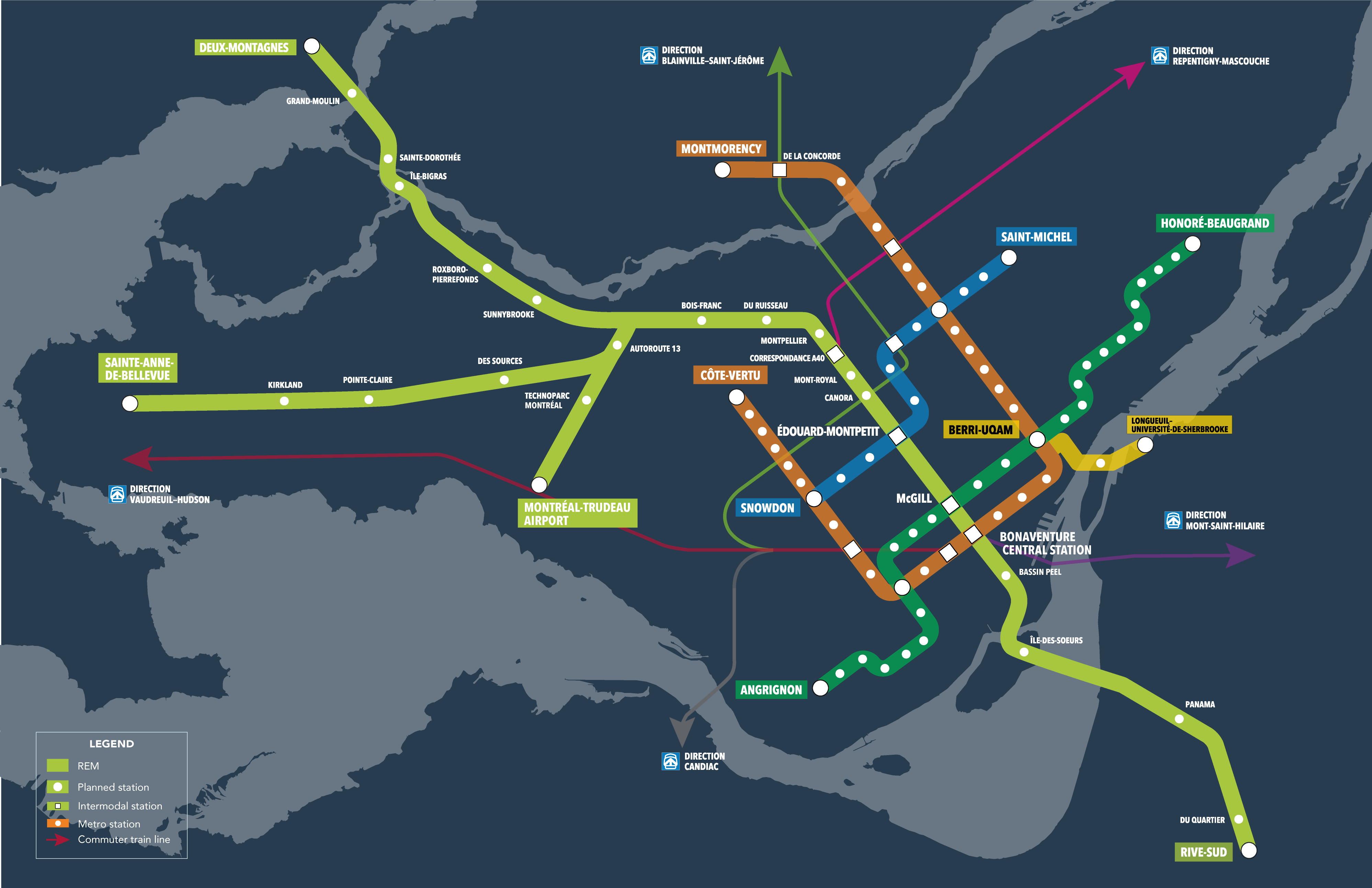 Construction Of New Electric Train Connecting Montreal