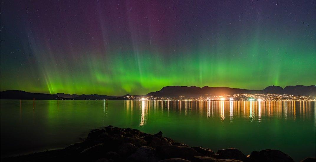Northern lights aurora borealis spanish banks vancouver