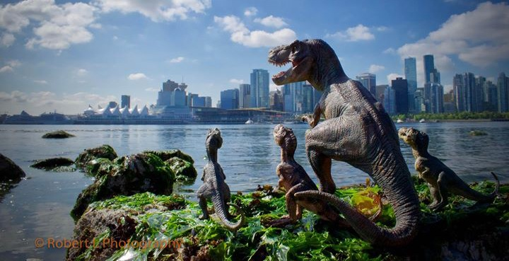 Dinosaurs invade Vancouver with help of ingenious local photographer (PHOTOS)