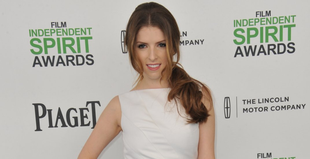 Anna Kendrick at the 2014 Film Independent Spirit Awards on the beach in Santa Monica, CA.