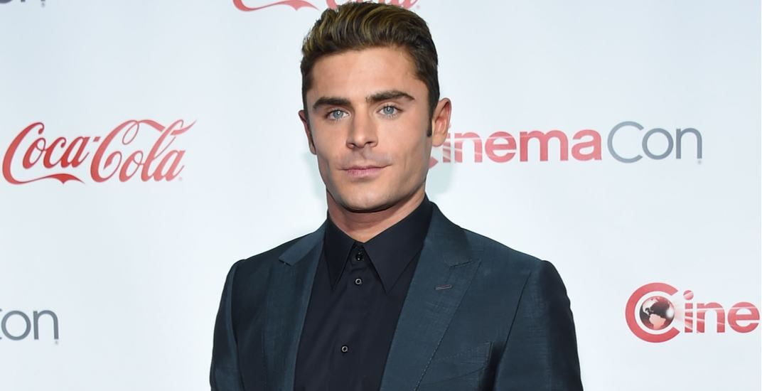 Zac Efron arrives to the Cinema Con 2016: Awards Gala on April 14, 2016 in Las Vegas, NV.