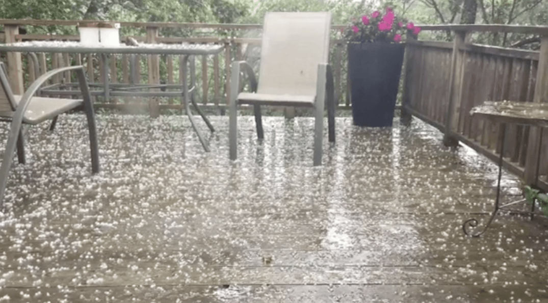 It hailed in parts of Toronto this afternoon (PHOTOS/VIDEOS)
