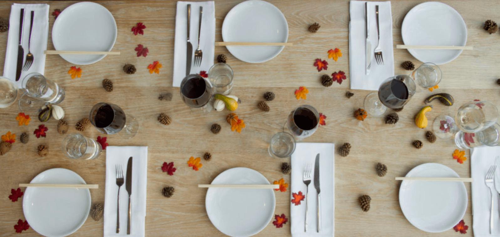 thanksgiving table fall