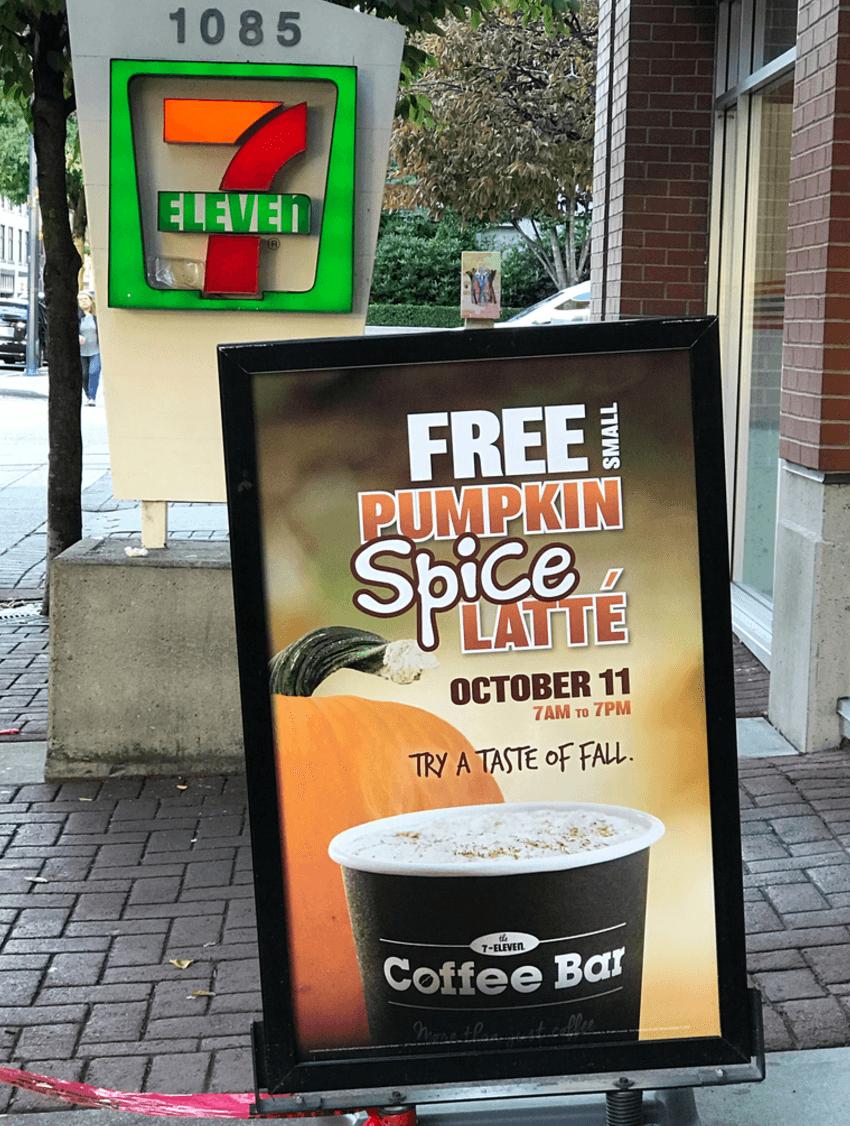 7-eleven pumpkin spice latte