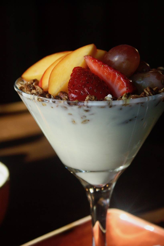 Yogurt Parfait on the Breakfast Menu at Storm Mountain Lodge