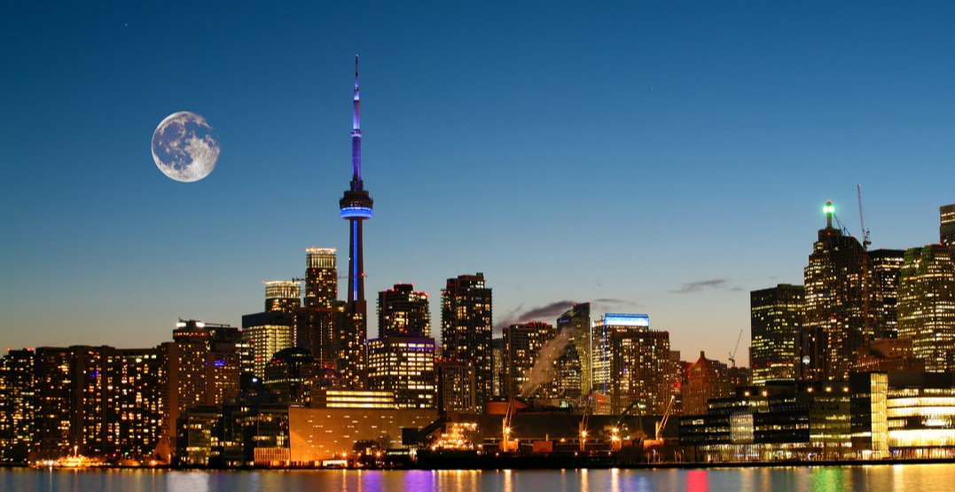 An incredible harvest moon is set to rise over Toronto tomorrow