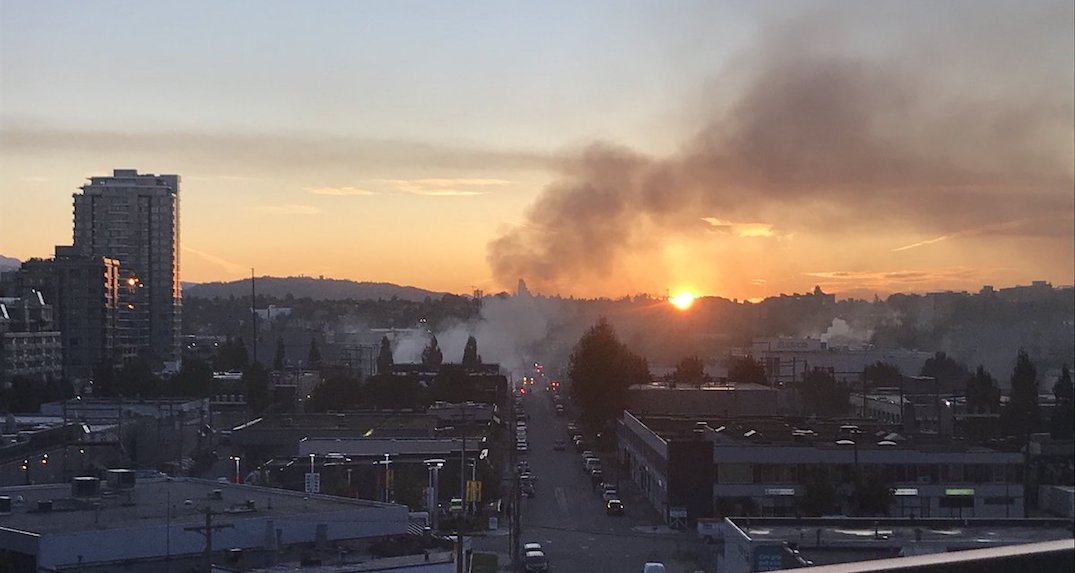 Massive fire engulfs metal shop in Olympic Village this morning (PHOTOS)