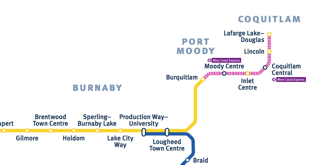 Skytrain evergreen extension route change october 2017 1