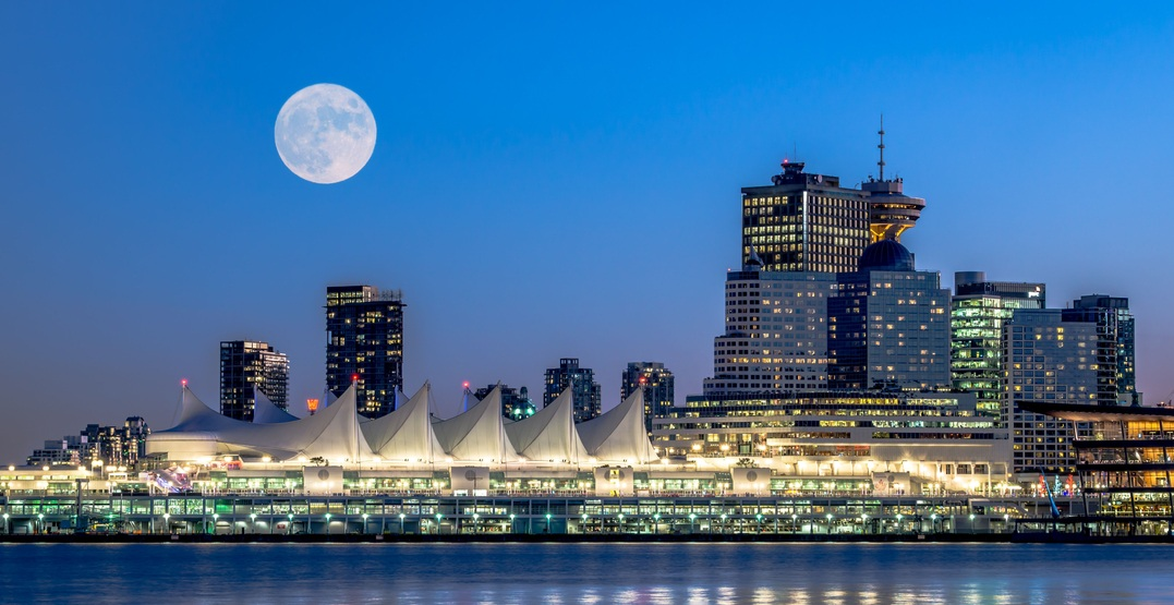 An incredible harvest moon is set to rise over Vancouver tomorrow