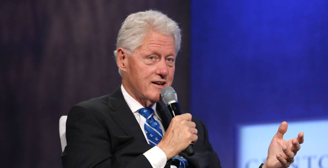 Bill Clinton is in Montreal today to talk to Jean Chretien