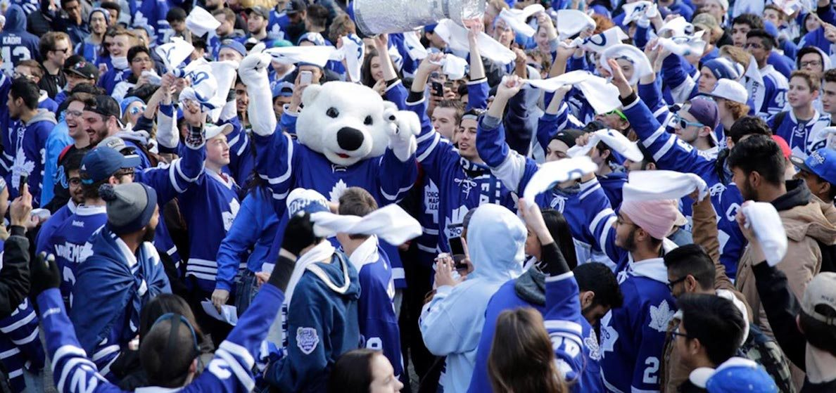 There's a huge tailgate party for the Leafs home opener this weekend