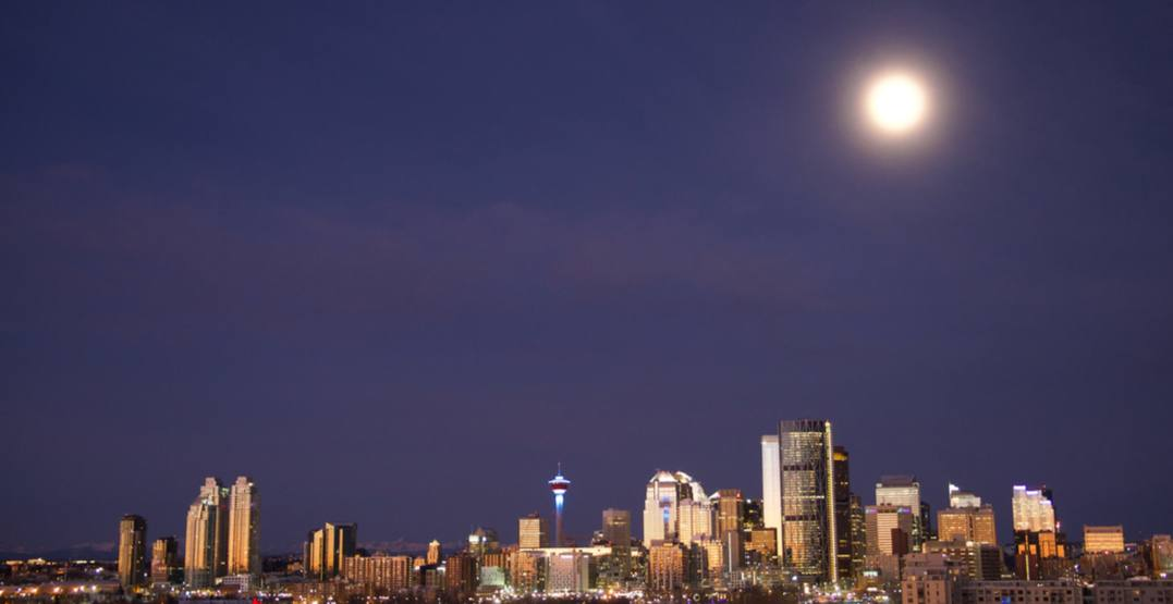 An incredible harvest moon is set to rise over Calgary tomorrow