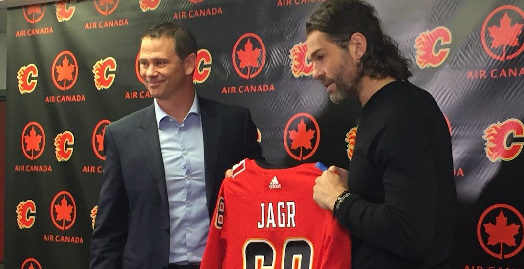 Report: Jagr's time with Flames coming to an end