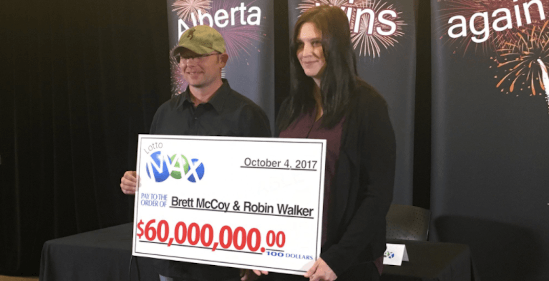 This couple just won the biggest lottery jackpot in Alberta's history