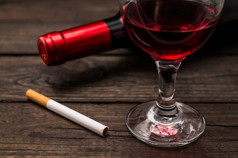 wine and cigarettes
