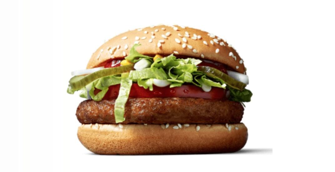 McDonald's now piloting the 'McVegan', a plant-based burger