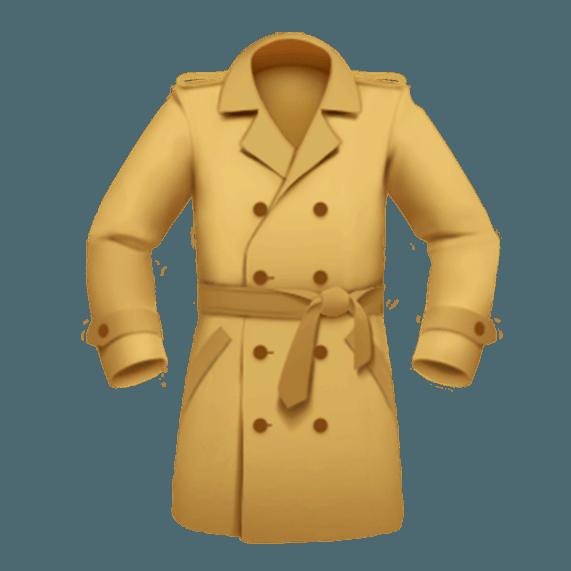 trench coat emoji