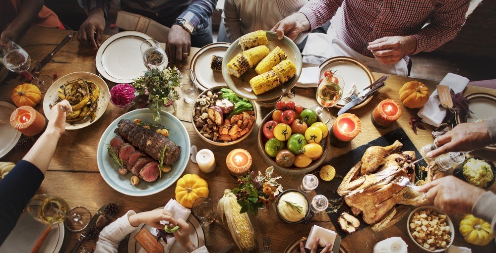 a discussion of the digestive process for a thanksgiving meal