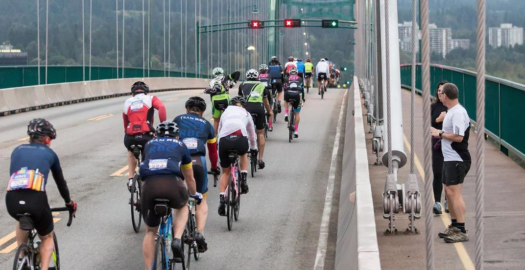 Gran fondo whistler lions gate bridge