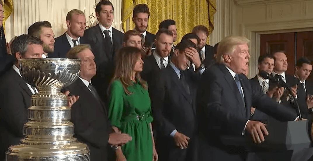 Trump stanley cup penguins