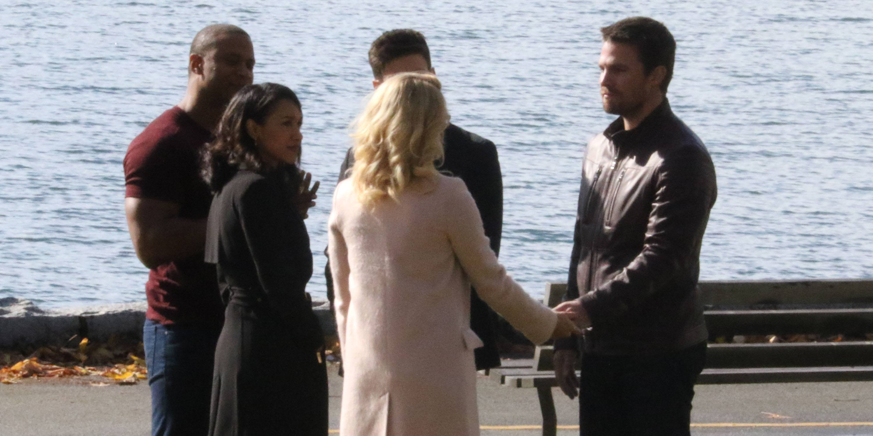 Arrow and Flash film dual wedding at Stanley Park for crossover episode (PHOTOS)