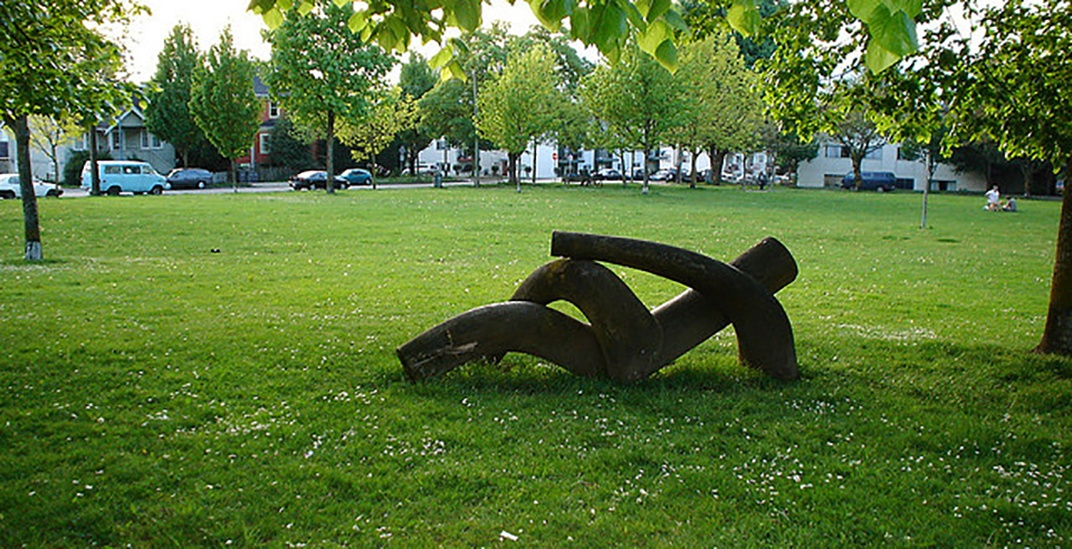 Save the dude sculpture at Dude Chilling Park in Vancouver