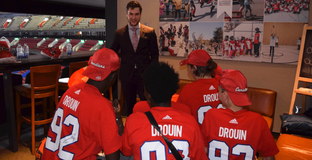 Jonathan Drouin treating Montreal kids to a Canadiens suite experience for every game this season