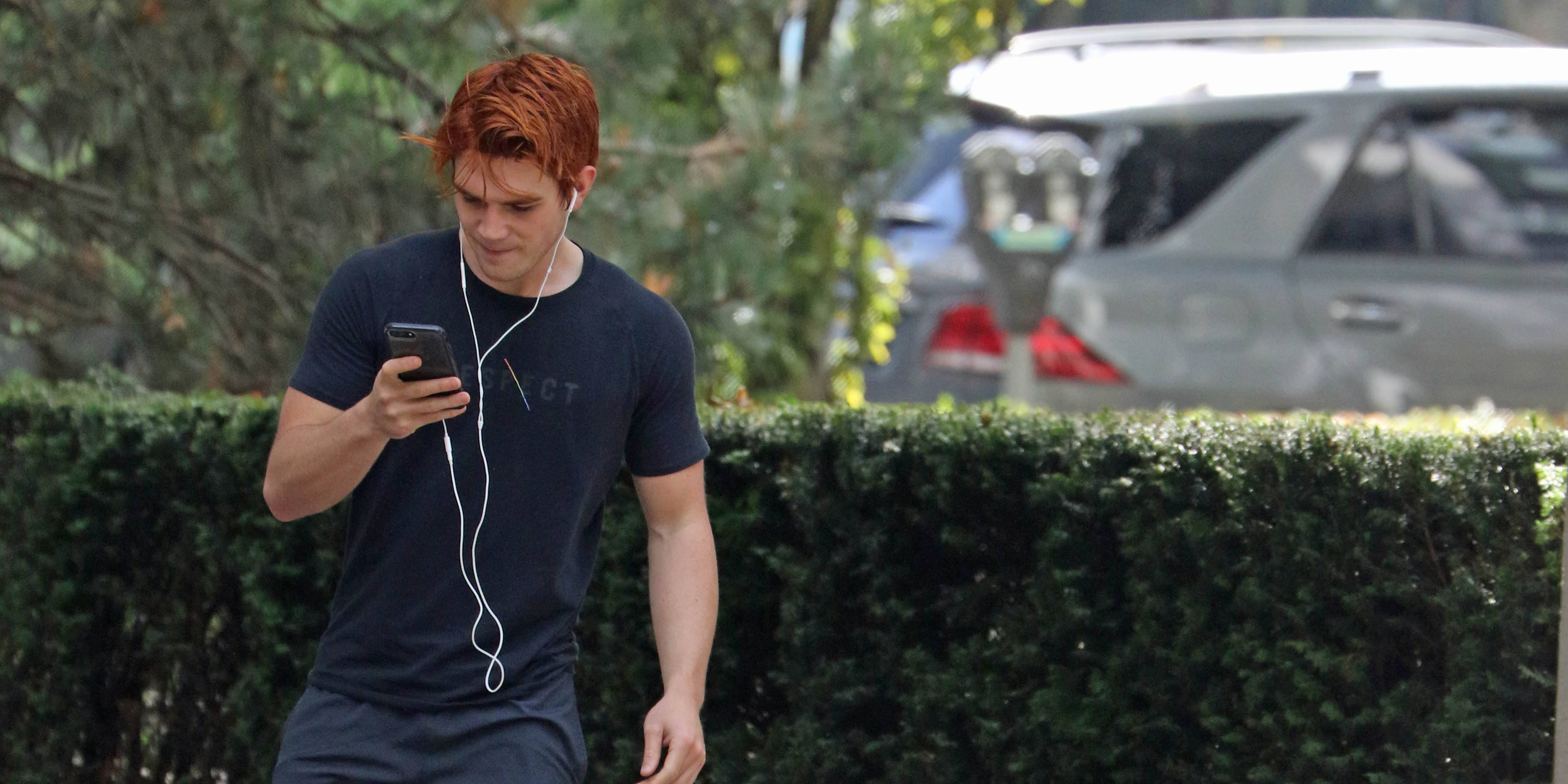 Riverdale's KJ Apa and Charles Melton spotted working out in Vancouver (PHOTOS)
