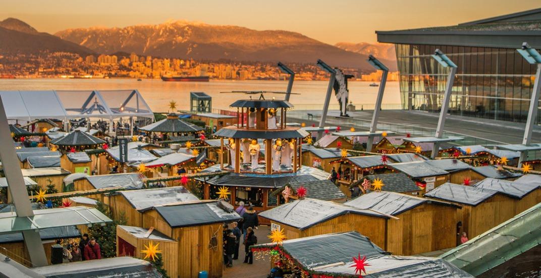 Vancouver christmas market jack poole plaza