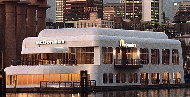 McBarge past exterior during Expo '86 (New McBarge campaign)