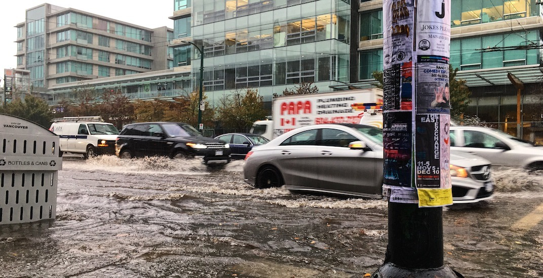 Broadway cambie vancouver flooding october 12 2017 4