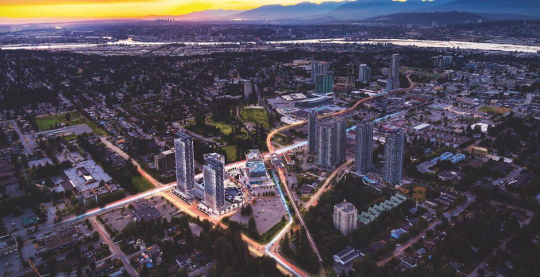 Ariel view of developmentking george hub