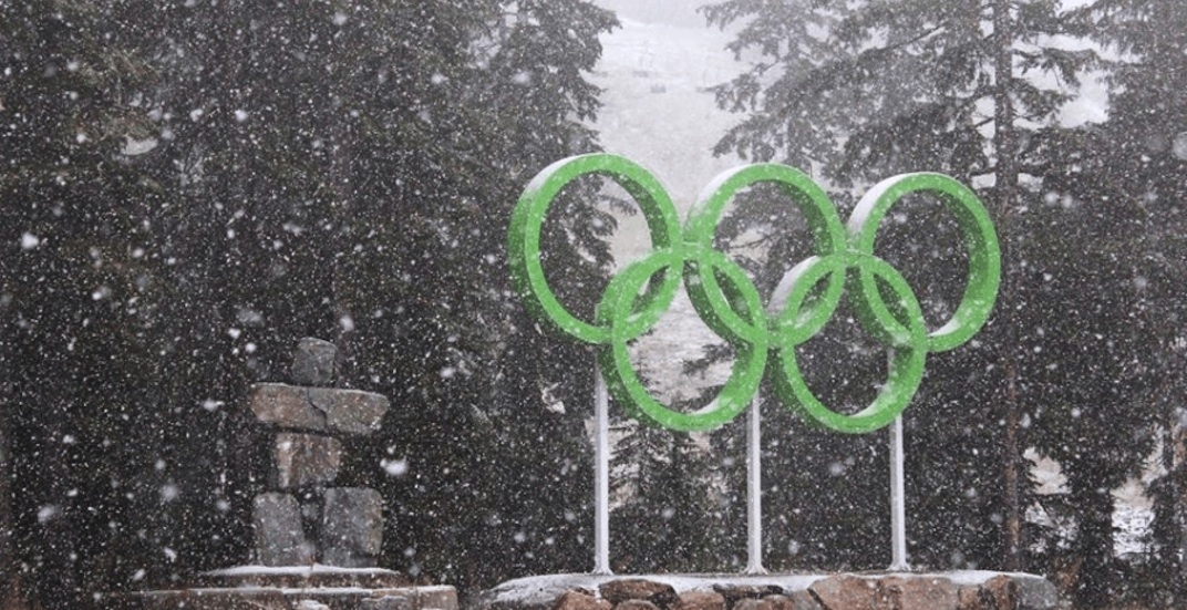 Cypress mountain winter snow olympic rings