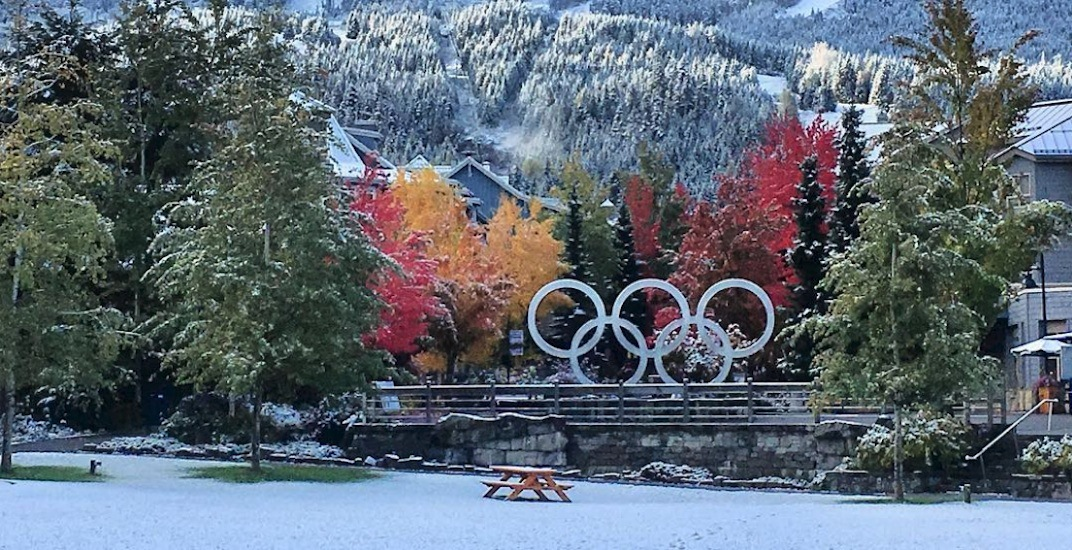Whistler Village got its first snow of the season this week (PHOTOS)
