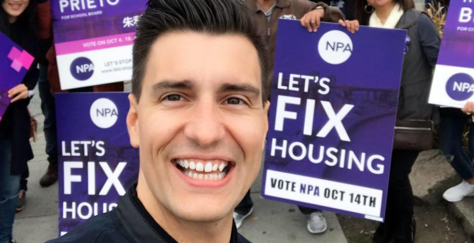 NPA's Hector Bremner wins byelection to become Vancouver City Councillor