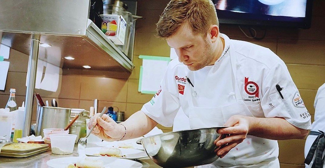 Vancouver's Connor Sperling named 2017 Top Young Chef of Canada