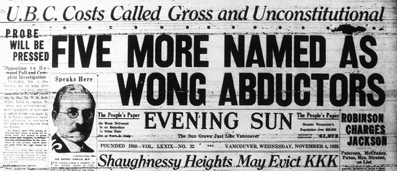 Evening Sun headline, 4 November 1925.