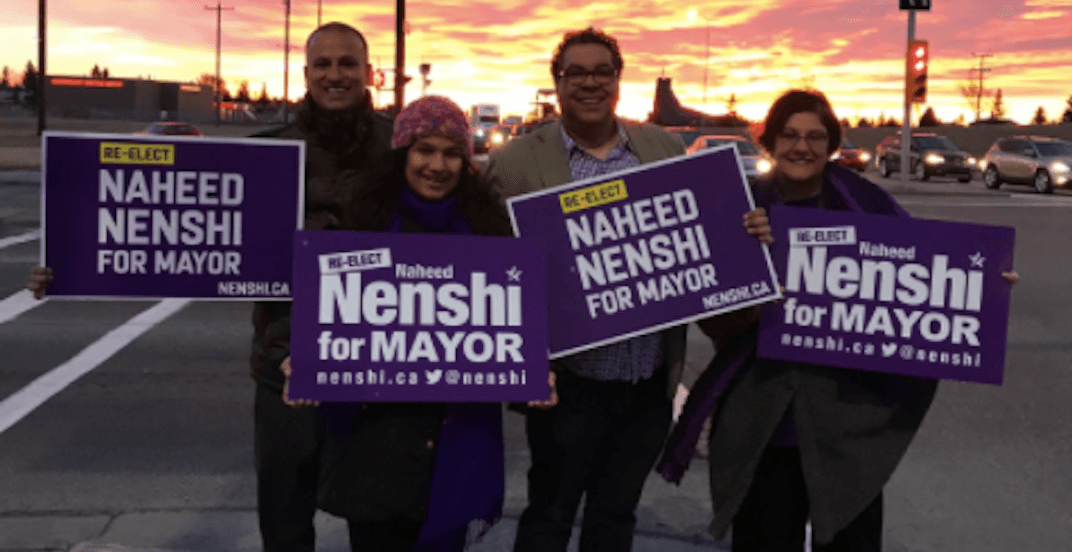 Naheed Nenshi leading with 10% of ballots counted