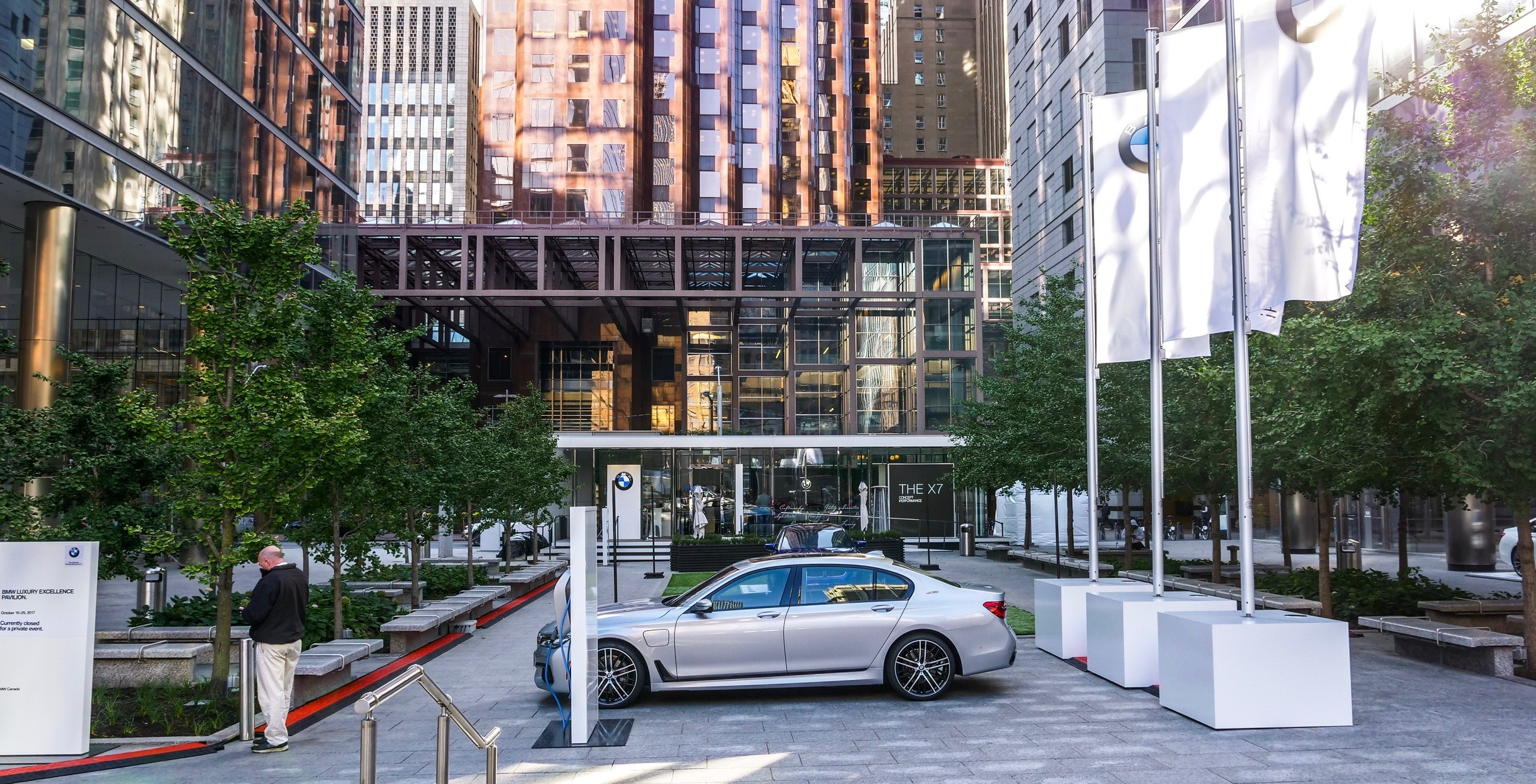 BMW is hosting a pop-up pavilion in downtown Toronto this week