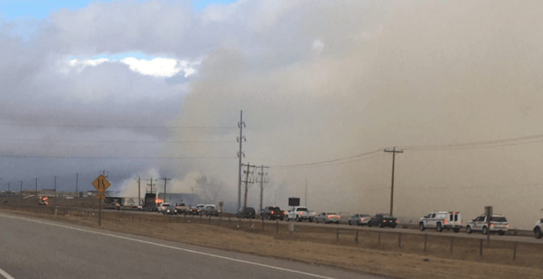 Fire burning in Airdrie, Sharp Hill residents being evacuated (VIDEO)