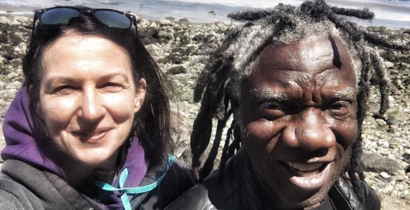 Lisa walker and her husband master drummer kwasi gofundme