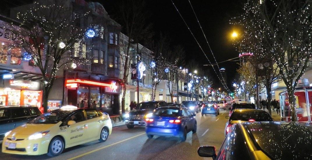 Robson street lights