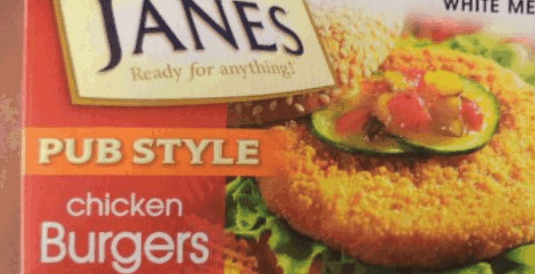 Two Janes chicken products recalled across Canada for salmonella contamination